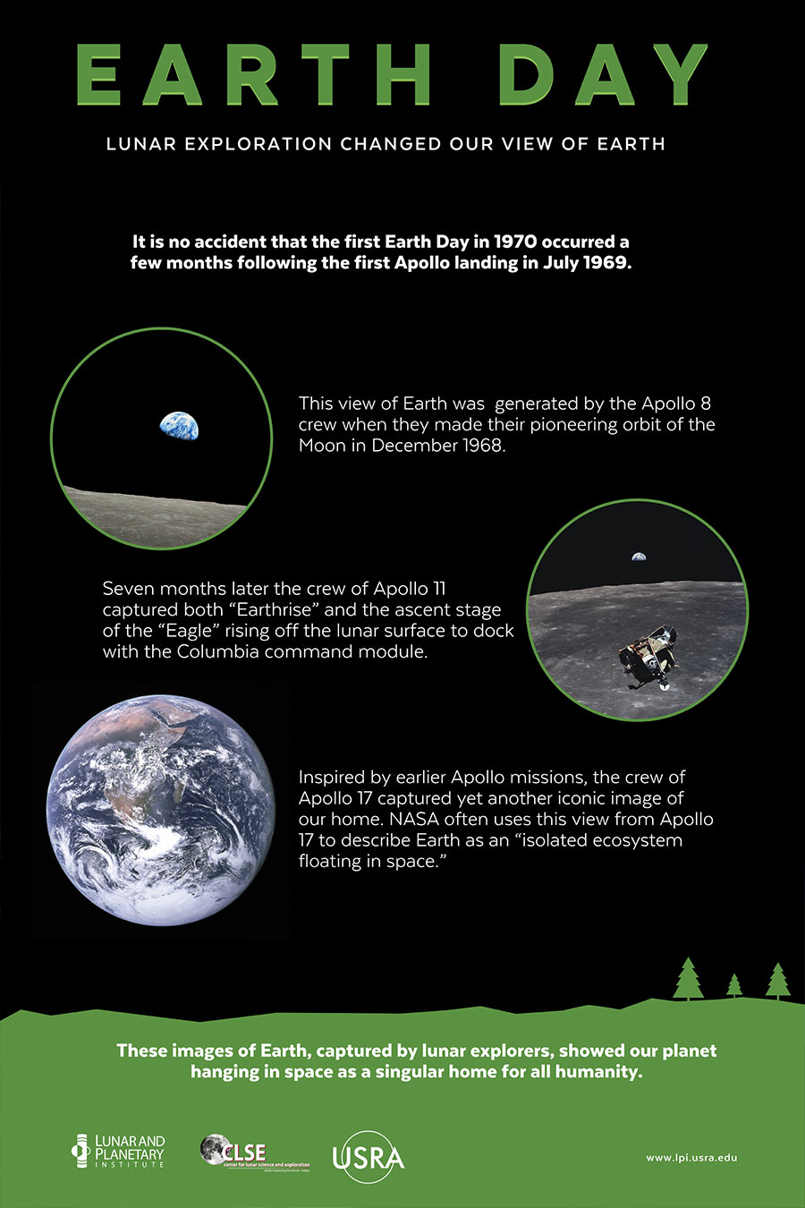 Earth Day poster Earthrise