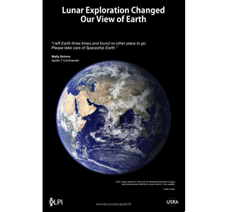 Earth Day poster blue marble