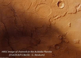 HRSC image of channels in the Acidalia Plantia (ESA/DLR/FUBerlin - G. Neukum)