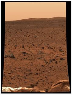 Image of the cold, dry Mars of Today.