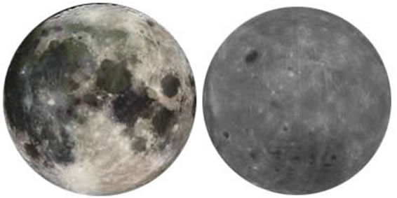 Nearside and Farside views of the Moon