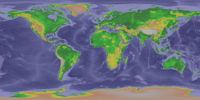 Global Topography Map
