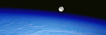 image of the Moon rising over Earth