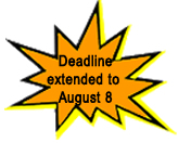 Deadline extended to August 8