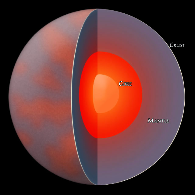 Layers of Planet Mercury - Pics about space