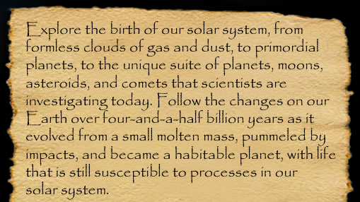 an introduction to the evolution of the solar system View lab report - michelle sullivan_lab 10 (1) activity 1 - introduction: formation of the solar system 1 what is currently known about the solar system, which led to scientifc theories of its evolution in other words.