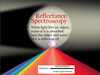 Reflectance Spectroscopy