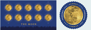 U S Postal Service Releases The Moon Forever Stamp