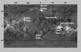 Magellan Radar mosaic of Venus
