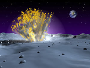 Meteor strike on the moon
