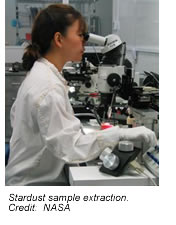Stardust sample extraction.