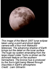 Image of March 2007 lunar eclipse.