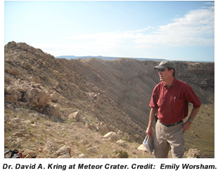 Dr. David A kring at Meteor Crater