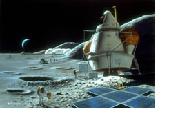Artist's concept of a Moon settlement.