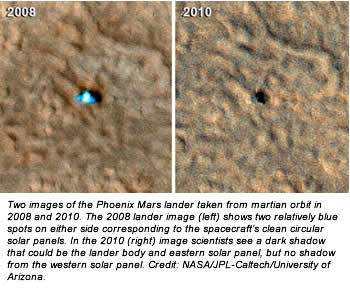 Phoenix Mars Lander Does Not Phone Home New Image Shows