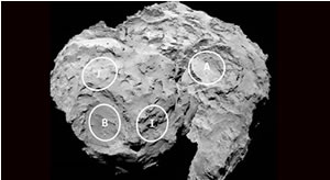 Landing sites for the Rosetta mission