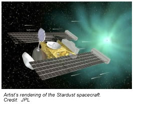 Artist's rendering of the Stardust spacecraft.
