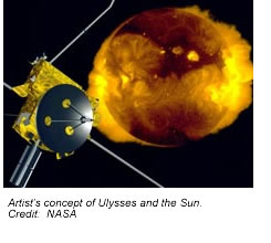 Artist's concept of Ulysses and the Sun.