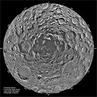 Mosiac of lunar south polar region