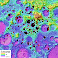 Topography and Permanently Shaded Regions (PSRs) of the Moon's South Pole