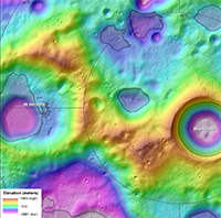 Topography and Permanently Shaded Regions (PSRs) of the Moon's South Polar Ridge