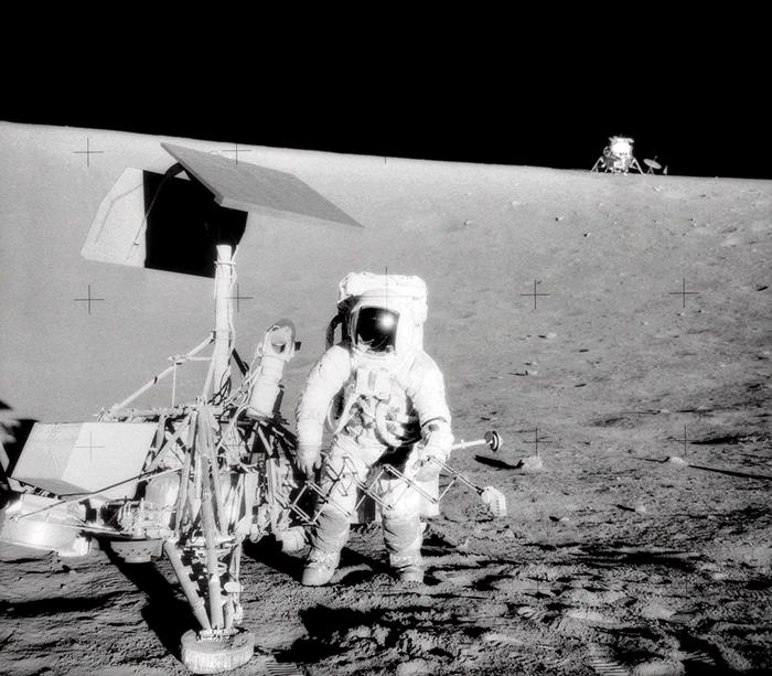 Bean Samples The Ocean of StormsMoonwalk EVAs Apollo 12 12X12 PHOTOGRAPH