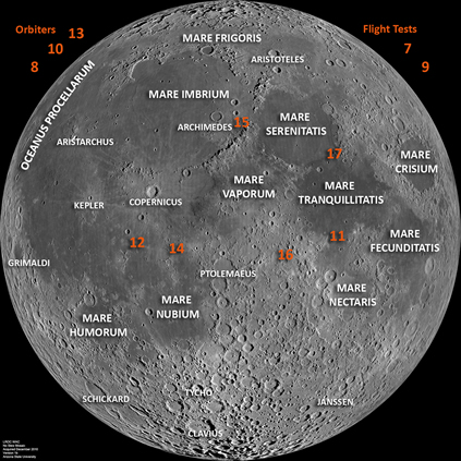 location moon map landing site apollo 12 - photo #3