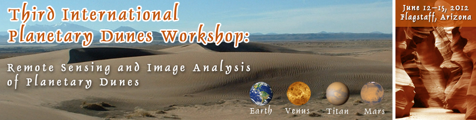Third International Planetary Dunes Workshop