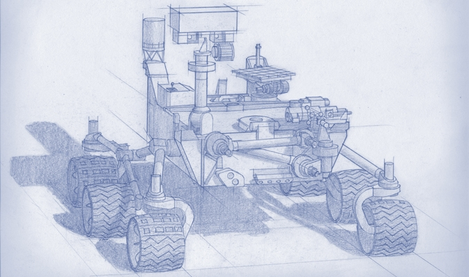 Planning for NASA's 2020 Mars rover envisions a basic structure that capitalizes on re-using the design and engineering work done for the NASA rover Curiosity. Image Credit:  NASA/JPL-Caltech