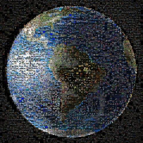 From more than 40 countries and 30 U.S. states, people around the world shared more than 1,400 images of themselves as part of the Wave at Saturn event organized by NASA's Cassini mission. That event on July 19, 2013, marked the day the Cassini spacecraft turned back toward Earth to take our picture as part of a larger mosaic of the Saturn system. The images came via Twitter, Facebook, Flickr, Instagram, Google+ and email. As a tribute to the people of Earth, the mission has assembled this collage from the shared images, using an image of Earth as the base image. Credit: NASA/JPL-Caltech