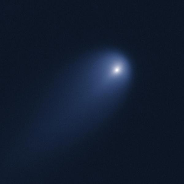 Comet C/ISON was imaged with the Hubble Space Telescope on April 10 using the Wide Field Camera 3, when the comet was 394 million miles from Earth. Credit: NASA, ESA, J.-Y. Li (Planetary Science Institute) and Hubble Comet ISON Imaging Science Team.
