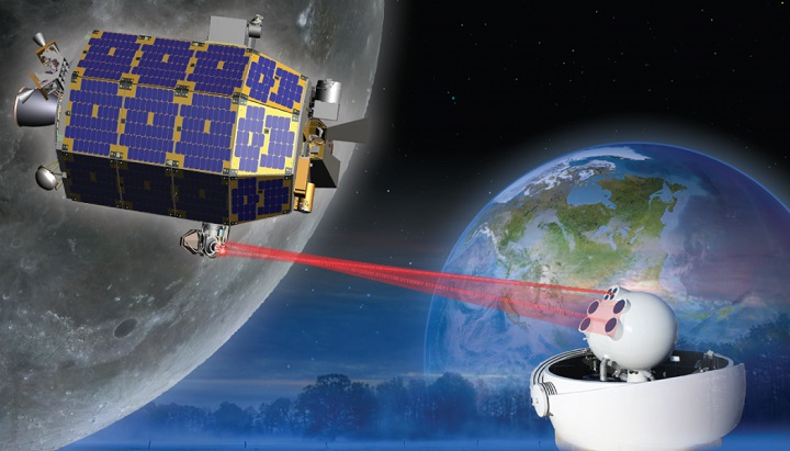 Artist's rendering of the LADEE satellite in orbit. Image credit: NASA.