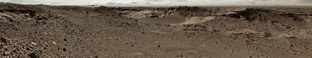 This scene combines images taken by the left-eye camera of the Mast Camera (Mastcam) instrument on NASA's Curiosity Mars rover during the midafternoon, local Mars solar time, of the mission's 526th Martian day, or sol (Jan. 28, 2014). Image Credit: NASA/JPL-Caltech/MSSS