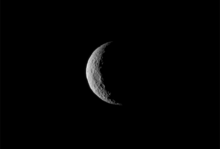 Ceres is seen from NASA's Dawn spacecraft on March 1, just a few days before the mission achieved orbit around the previously unexplored dwarf planet. The image was taken at a distance of about 30,000 miles (about 48,000 kilometers). Image Credit: NASA/JPL-Caltech/UCLA/MPS/DLR/IDA.