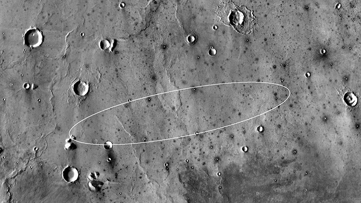 This map shows the single area under continuing evaluation as the InSight mission's Mars landing site, as of a year before the mission's May 2016 launch. Image Credit: NASA/JPL-Caltech.