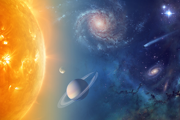 NASA is exploring our solar system and beyond to understand the workings of the universe, searching for water and life among the stars. Image credit: NASA.