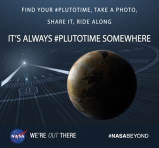 It's always #PlutoTime somewhere. Image credit: NASA.