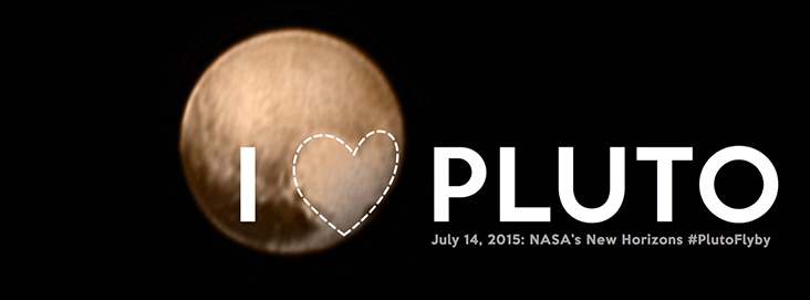A whimsical, artistic twist on one of the Pluto approach pictures. Suitable for sharing on social media banners. Credit: NASA/Johns Hopkins Applied Physics Laboratory/Southwest Research Institute.