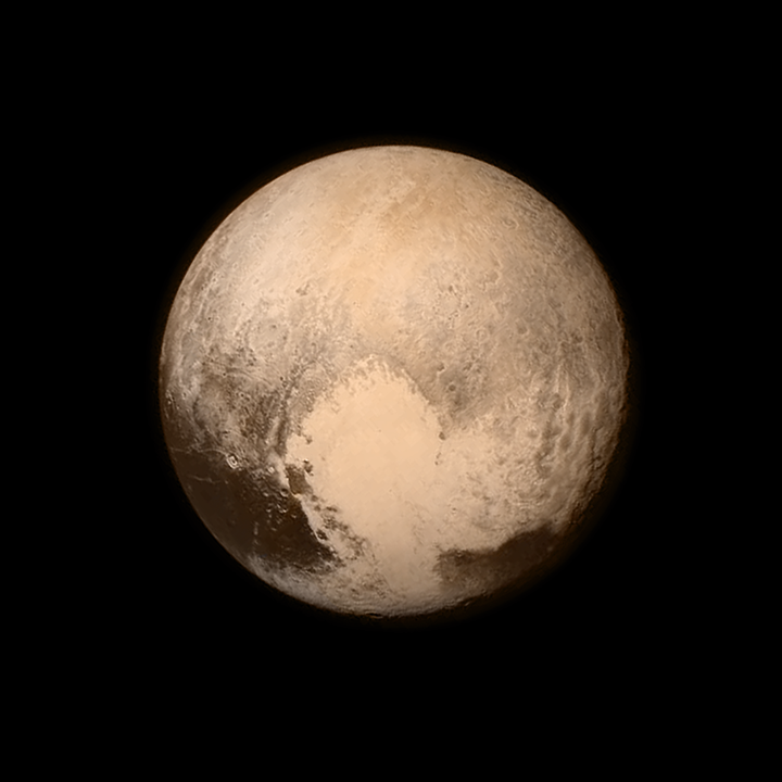 One of the final images taken before New Horizons made its closest approach to Pluto on 14 July 2015. Image Credit: NASA/Johns Hopkins University Applied Physics Laboratory/Southwest Research Institute.