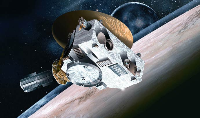Artist conception of New Horizons Spacecraft. Image credit: Johns Hopkins University Applied Physics Laboratory/Southwest Research Institute.