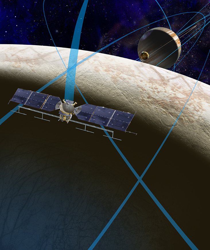 Artist's rendering of NASA's Europa mission spacecraft. Credits: NASA/JPL-Caltech.