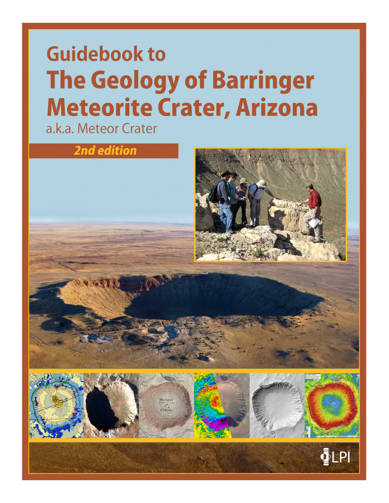 Meteor Crater Arizona Map.Guidebook To The Geology Of Barringer Meteorite Crater