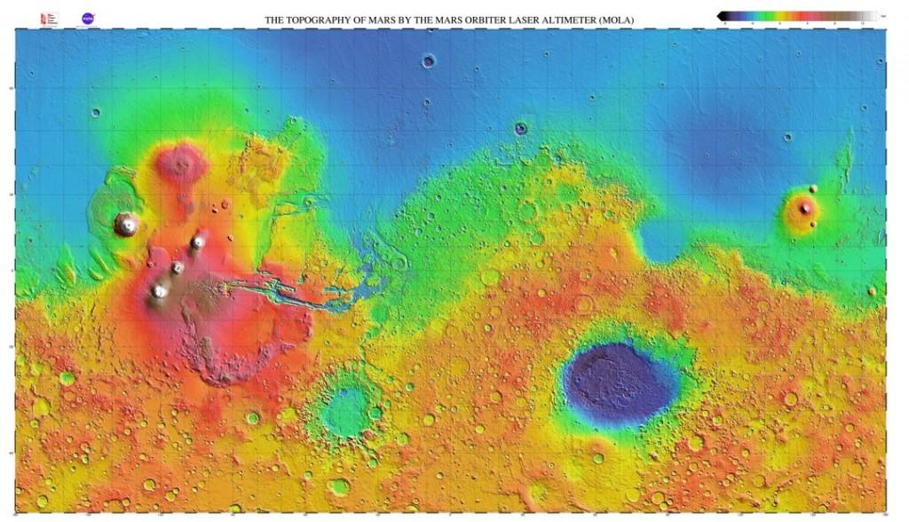 Image Credit: NASA, MOLA