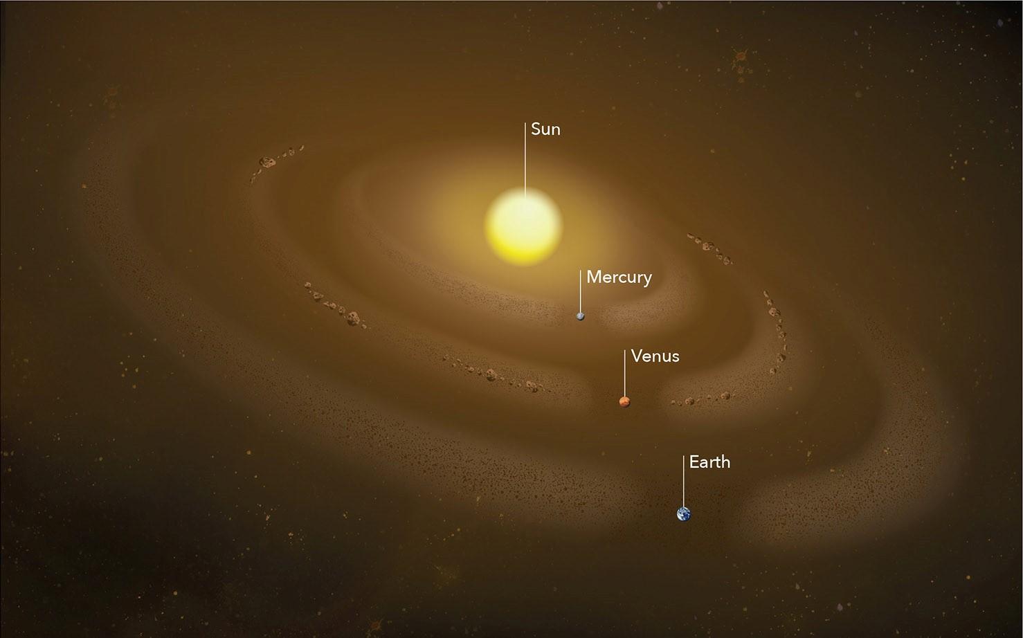 Anillos de polvo recientemente descubiertos (¡y posiblemente asteroides!) en el sistema solar interno