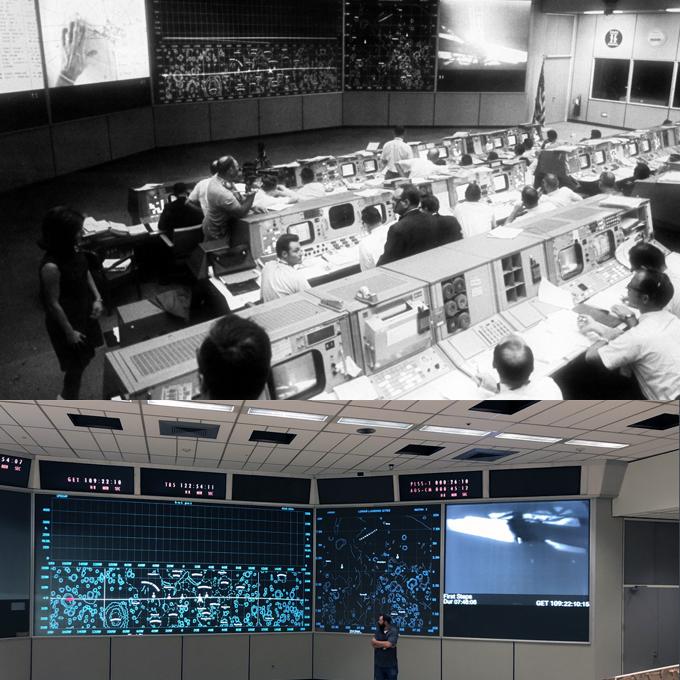 Misión Control, 1969 y 2019.