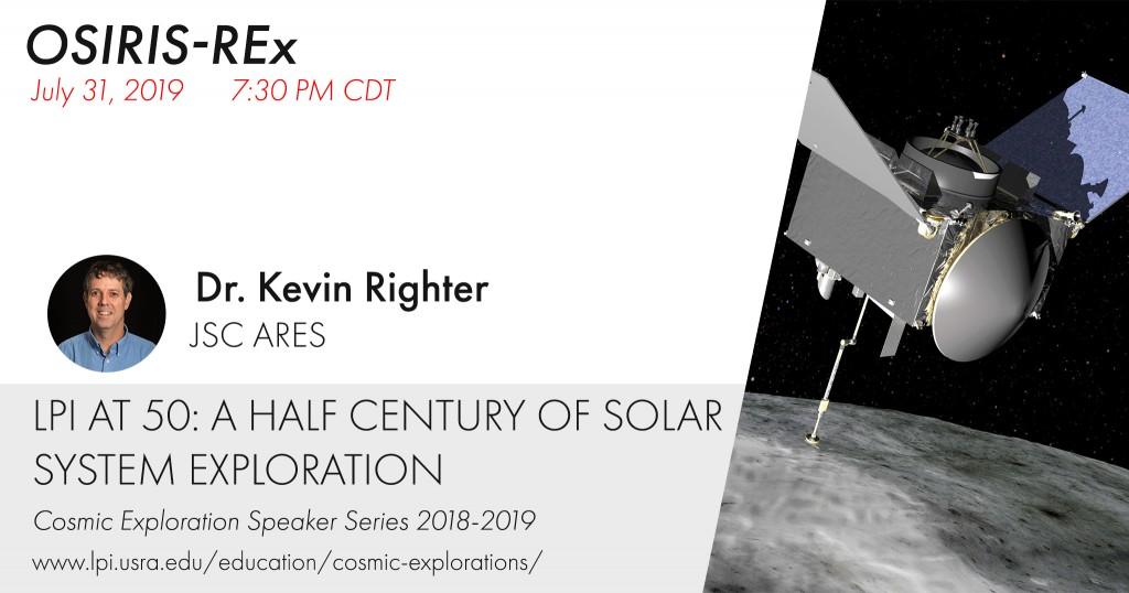 Cosmic Explorations Speaker Series: Kevin Righter