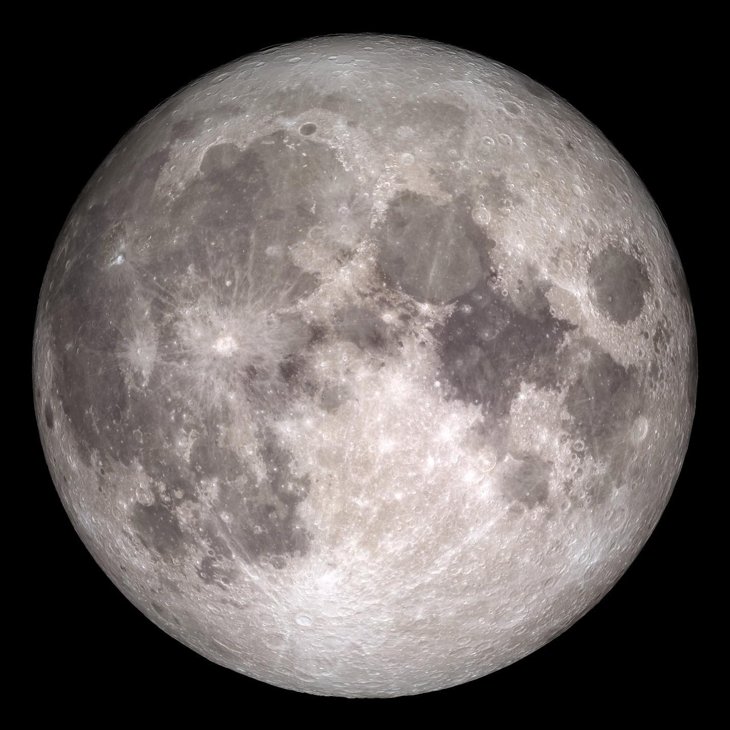 La nave espacial Lunar Reconnaissance Orbiter de la NASA nos permitió ver esta imagen espectacular del lado cercano de la Luna.