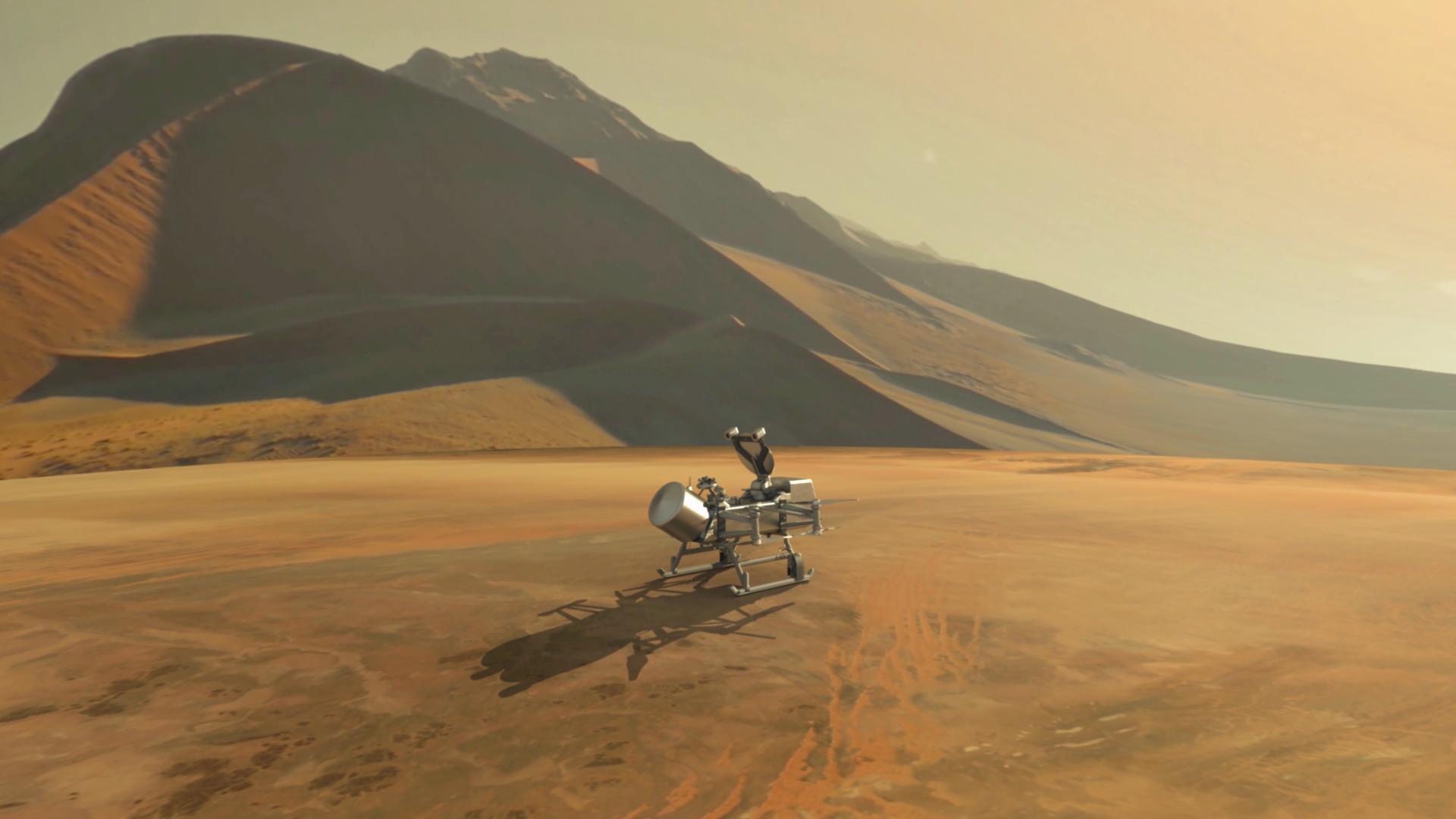 La próxima misión de la NASA a Titán:  Dragonfly.