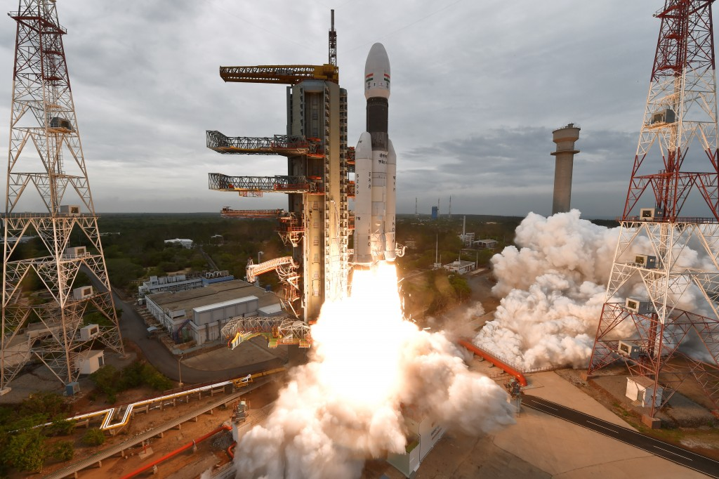 Lift-off of Chandrayaan-2