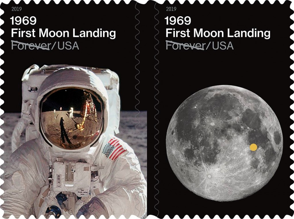 Moon Landing Forever Stamps